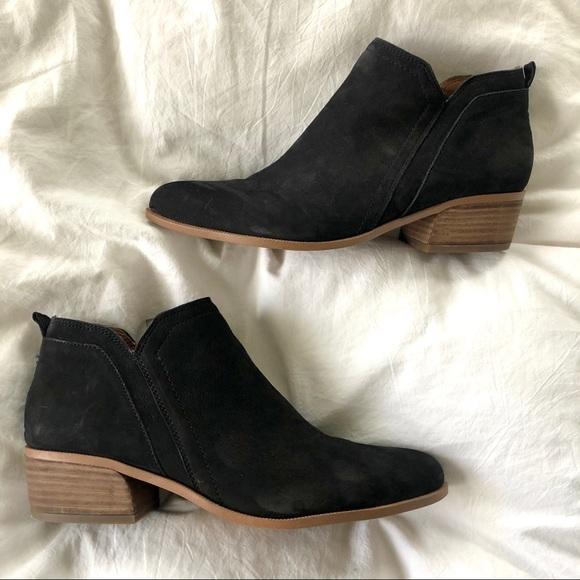 Laslo Low Top Black Leather Booties